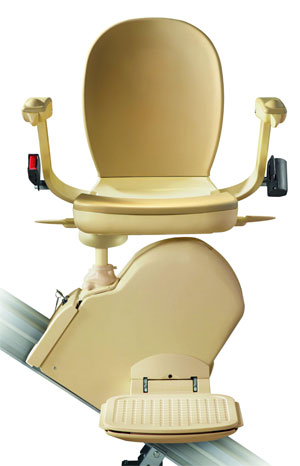 The arms, seat and footrest all neatly fold away