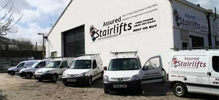 Assured Stairlifts Workshop and Stairlift Removal Vans